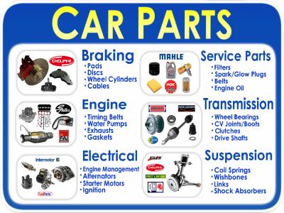 Just Some Of The Car Parts Available